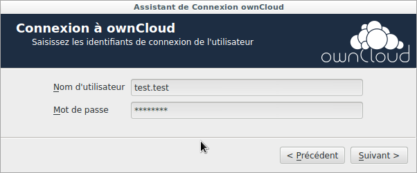 Capture d'écran assistant de configuration nextcloud